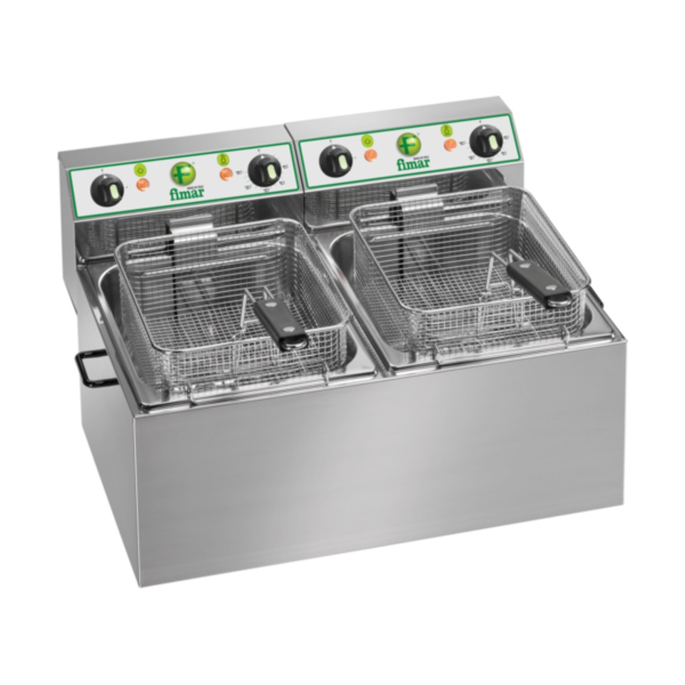 FR88 Electric Countertop Deep Fryer - double Pan 2 x 8L