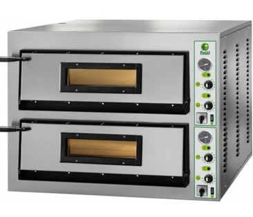 FMLM/6+6 Electric Twin Deck Pizza Oven - 2 x 6 Pizzas @ 350mm  - Wide Model
